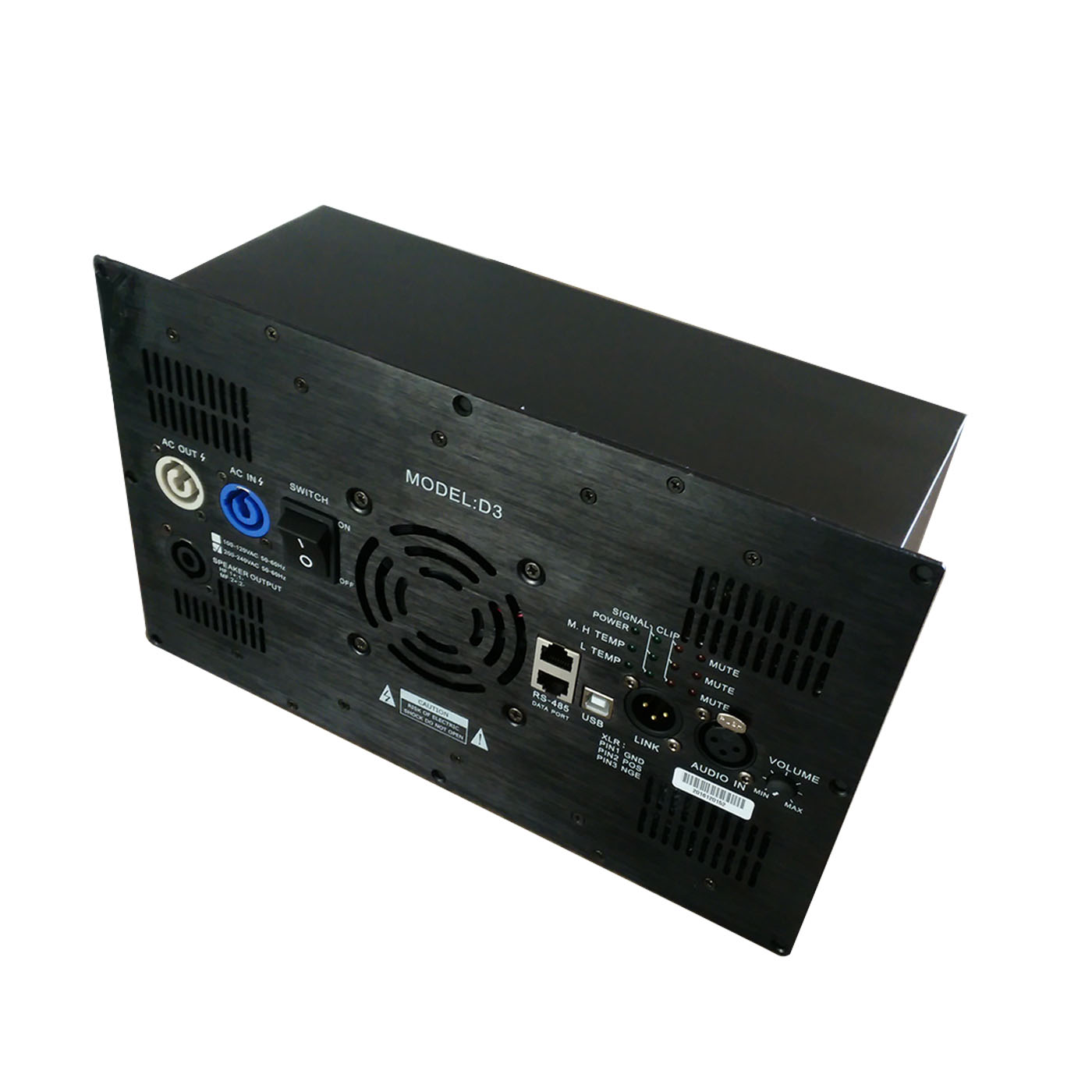 D3 1800W+900W+900W Class D 3CH DSP Amplifier Module for Active Speaker
