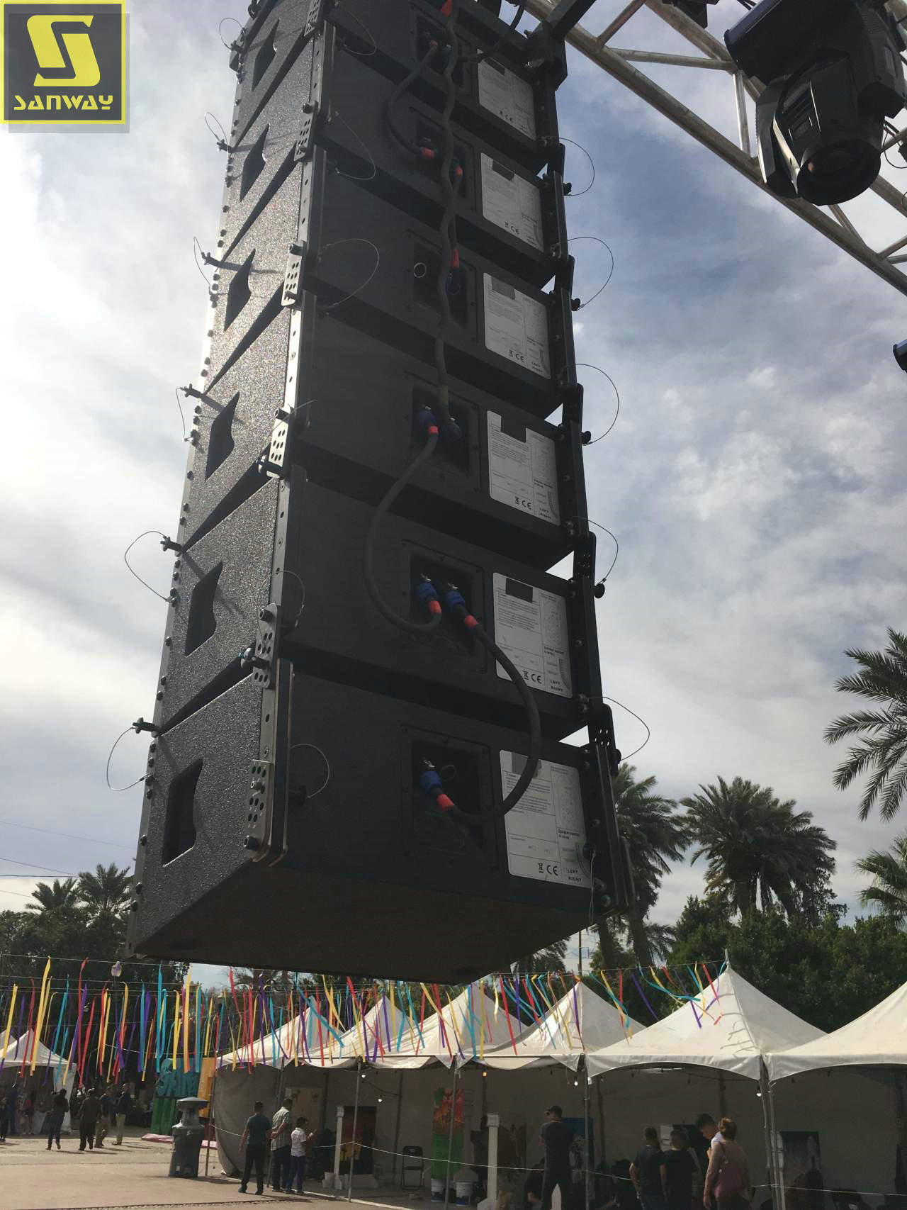 12 PCS VR10 single 10 inch line array feedback