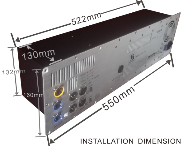 D3-215 installation dimension
